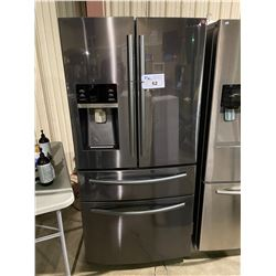 SAMSUNG BLACK STAINLESS FRENCH DOOR FRIDGE /W DUAL ROLLOUT FREEZERS
