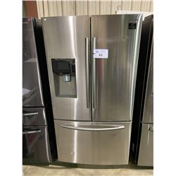 SAMSUNG STAINLESS STEEL FRENCH DOOR FRIDGE /W ROLLOUT FREEZER