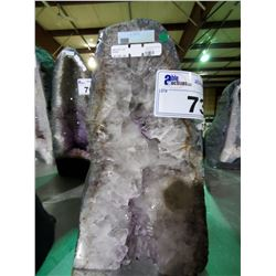 "6.35KG AMETHYST CATHEDRAL GEODE (MSRP $1188.88) 12""H X 7""W BASE"