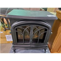 BLACK FIRESENCE FREE STANDING ELECTRIC FIRE PLACE