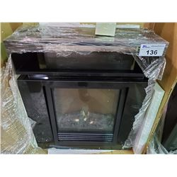 "BLACK TV STAND & ELECTRIC FIREPLACE COMBO (27""W X 12""D X 31""H)"