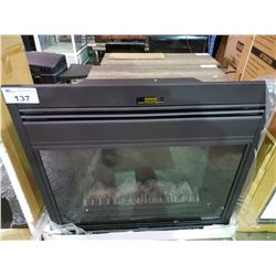 "BLACK FINISH ELECTRIC FIREPLACE INSERT 36"" X 33"""