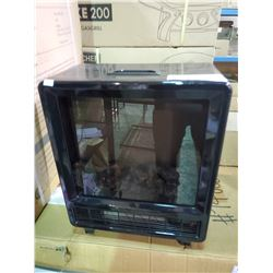 SMALL BLACK PARAMOUNT ELECTRIC FIREPLACE MODEL BLT-999T-1