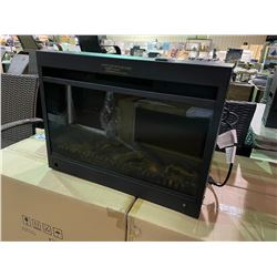 """*BOXED* PARAMOUNT 25"""" BLACK FINISH ELECTRIC FIREPLACE INSERT /W REMOTE"""