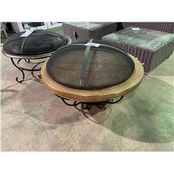 COBRA CO ROUND HAND-HAMMERED 100% COPPER FIRE TUB (MISSING HANDLE)