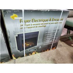 """*BOXED* FLAMEGLOW 24"""" ELECTRIC FIREPLACE INSERT"""