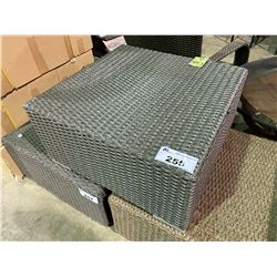 CHARCOAL COLOUR WICKER OUTDOOR PATIO FOOT REST/TABLE