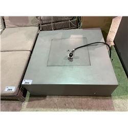 """GREY OUTDOOR FIREPIT/TABLE (38""""L X 38""""W X 13""""H)"""