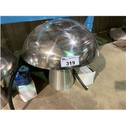 LARGE SIZE STAINLESS STEEL MUSHROOM FOUNTAIN WITH PUMP AND LED LIGHTING