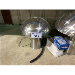 SMALL SIZE STAINLESS STEEL MUSHROOM FOUNTAIN WITH PUMP AND LED LIGHTING