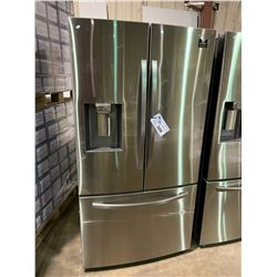 SAMSUNG STAINLESS STEEL  FRENCH DOOR REFRIGERATOR WITH ROLL OUT FREEZER, WATER AND ICE DISPENSER