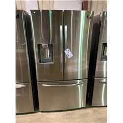 SAMSUNG STAINLESS STEEL FRENCH DOOR FRIDGE WITH ROLLOUT FREEZER, WATER AND ICE DISPENSER