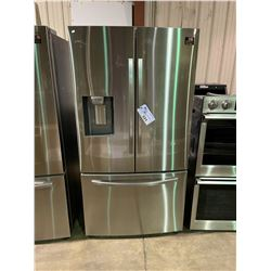 SAMSUNG STAINLESS STEEL FRENCH DOOR FRIDGE, WITH ROLL OUT FREEZER, WATER AND ICE DISPENSER