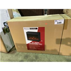 "PARAMOUNT 25"" BLACK FINISH ELECTRIC FIREPLACE INSERT /W REMOTE"