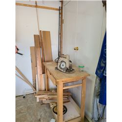 Makita, B&D, Cart, Wood Pieces, and more A