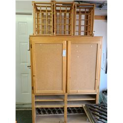 Cabinet and Wine Racks A