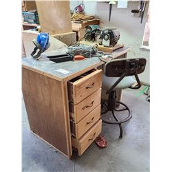 Desk, chair and Tools A