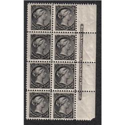 #34-34iv NH BLOCK 8 INSCRIPTION *RE-ENTRY VARIETY POSITION 49*
