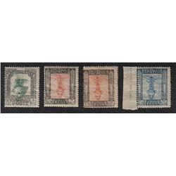 LIBIA 22b, 23a, 24a, 25a NH *INVERTED CENTER VARIETY* RARE