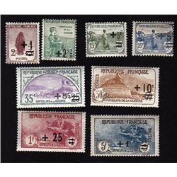 FRANCE #B12 to B19 MINT OG NH *COMPETE SET*