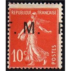 FRANCE #M5 VF-LH *SHIFTED OVERPRINT (F.M.) VARIETY*