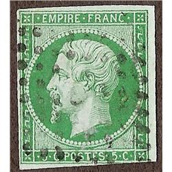 France #13b VF USED NO FAULTS YVERT#12b DARK GREEN SHADE