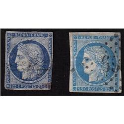France #1,3,6,6a F-VF to XF USED