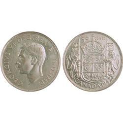 50¢ Canada 1947 AU53 PCGS