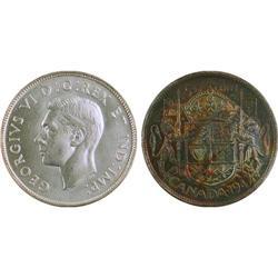 50¢ Canada 1947 MS63 ICCS