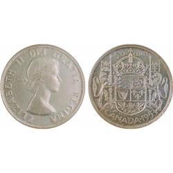 50¢ Canada 1953 MS62 ICCS