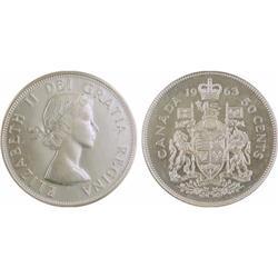 50¢ Canada 1963-64-65 MS64 ICCS