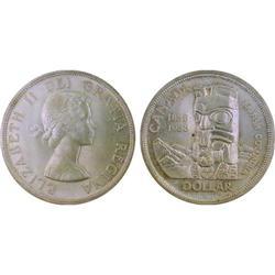 $1.00 Canada 1958 MS64 ICCS