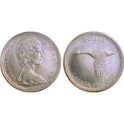 $1.00 Canada 1967 MS64 ICCS