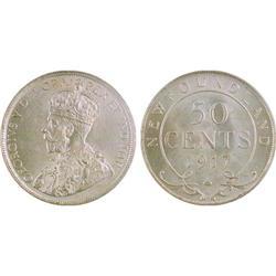 Newfoundland 50¢ 1917C MS62 ICCS