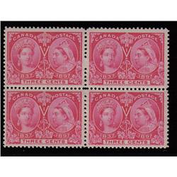 #53 XF-LH BLOCK OF 4 *JUBILEE* C$100,00