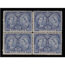 #60i VF-2NH-2LH BLOCK OF 4 *JUBILEE* C$2600,00