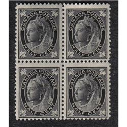 #66 VF-NH BLOCK OF 4 *MAPLE LEAF ISSUE* C$144,00