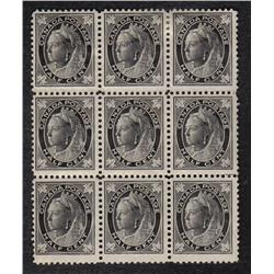#66 F-VF-6NH 3H BLOCK OF 9 *MAPLE LEAF ISSUE* C$180,00