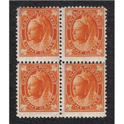 #72 FINE NH BLOCK OF 4 *MAPLE LEAF ISSUE* C$1200,00