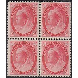 #77 VF 2NH 2LH BLOCK OF 4 *NUMERAL ISSUE* C$320,00