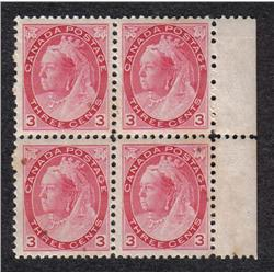 #78 VF NH BLOCK OF 4 *NUMERAL ISSUE* C$840,00
