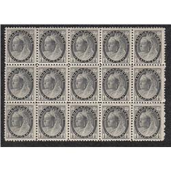 #74 VF 13NH 2LH BLOCK OF 15 *NUMERAL ISSUE* C$330,00