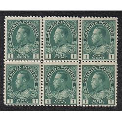 #104i F-VF NH BLOCK 6 *ADMIRAL* C$180,00