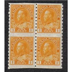 #126a VF-NH IMPERF BLOCK OF 4 C$138,00