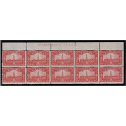 #143 MINT NH UPPER PLATE No2 BLOCK OF 10 C$260,00