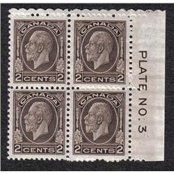 #195 to 197 VF-NH PLATE BLOCK COLLECTION QTT5