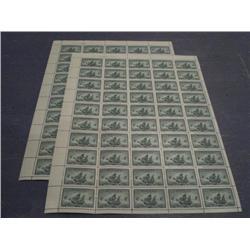 #282 NH UL FULL SHEET 50 PLATE No1 & 2