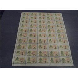#419i NH FULL SHEET 50 *FLUORESCENT PAPER VARIETY*