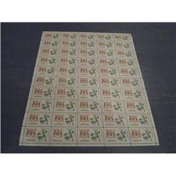 #418i NH FULL SHEET 50 *FLUORESCENT PAPER VARIETY*