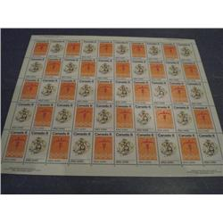 #564-65 XF-NH INDIANS FULL SHEET OF 50